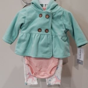 3 piece outfit for newborn baby girl